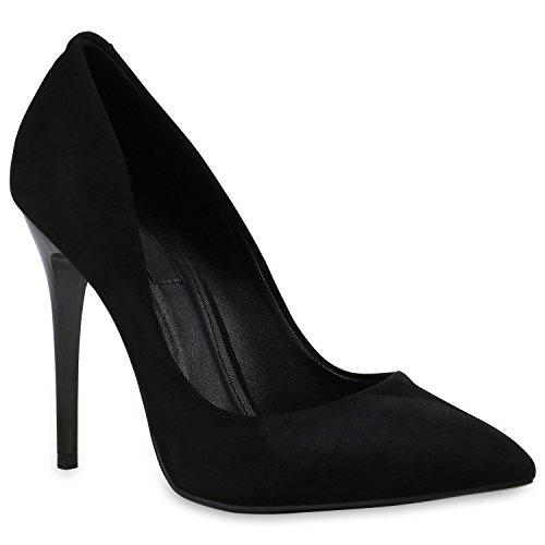 Spitze Damen Pumps Stilettos Lack High Heels Elegant Schuhe 144252 Weiss Lack 35 Flandell