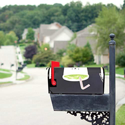 YXUAOQ Süße Boba grüner Tee Trinken Standardgröße Original Magnetic Mail Anschreiben Briefkasten 21 x 18 Zoll saisonale Briefkasten Abdeckungen...