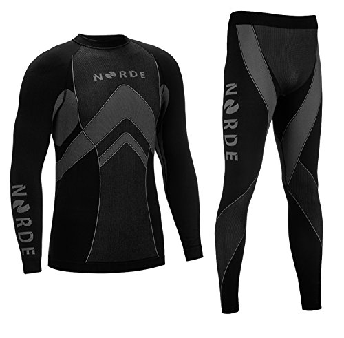 THERMOTECH NORDE Herren Funktionswäsche Thermoaktiv Atmungsaktiv Base Layer SET...