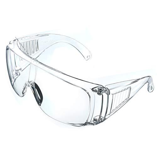 NASUM Schutzbrille faltbare Schutzbrille für brillenträger, hohe Schlagfestigkeit für Baustellen, Dekoration, Werkstätten und staubdicht/Licht,...