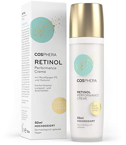 Cosphera - Retinol Performance Creme 50 ml - mit Hyaluronsäure - vegane Tages-...