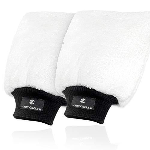 MARC CROUCH 2X Mikrofaser Handschuhe mit ultimativem Halt dank 4 Innenlaschen und Umhängeschlaufe - unglaubliche Saugstärke – Perfekt für die...