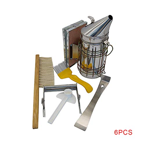 Windy5 Bienenzucht Tool Kit Bee Hive Smoker Abkratzbürste Honig Fork Wasser-Zufuhr-Imker-Zubehör