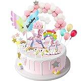 iZoeL kage dekoration enhjørning fødselsdagskage regnbue glad ...