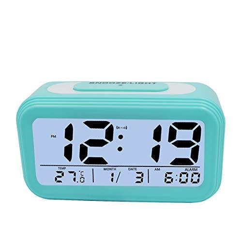 KidsPark Wecker Digital, Digitaler Wecker LED Kinderwecker mit Datum Temperatur Anzeige Batterie Digitalwecker Reisewecker mit Snooze und Nachtlicht...