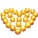 24 LED-lys, Diyife® LED flammeløse telys, flimrende ...