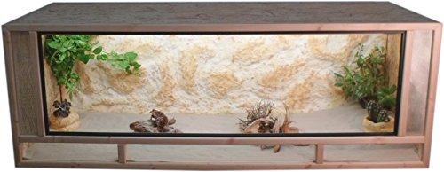 Tropic-Shop OSB Terrarium - Holzterrarium - Front aus massiven Fichtenhholzrahmen - Made In Germany !! (140x60x60cm)