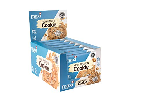MaxiNutrition Protein Cookie – White Chocolate Almond, 12 x 75 g