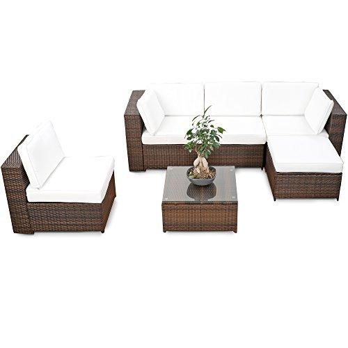 XINRO® erweiterbares 18tlg. XXL Lounge Set Polyrattan...