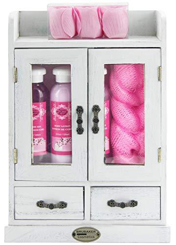 BRUBAKER Cosmetics - 10-teiliges Bade- und Pflege Geschenkset - Kirschblüten &...