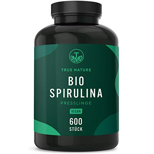 TRUE NATURE® Bio Spirulina Presslinge - 600 Tabletten...