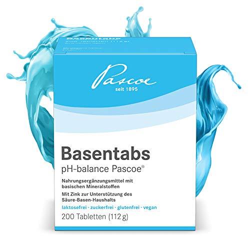 Pascoe® Basentabs pH-balance Pascoe: für den Säure-Basen-Haushalt, mit Magnesium, Zink, Calcium, 100% vegan, 200 Tabletten