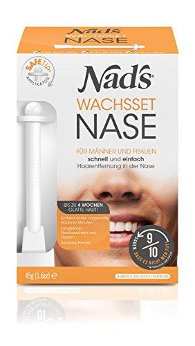 Nad's Nose Hair Wax Hair Removal Set - Nose Wax pro muže + ženy, bezpečný a bezbolestný