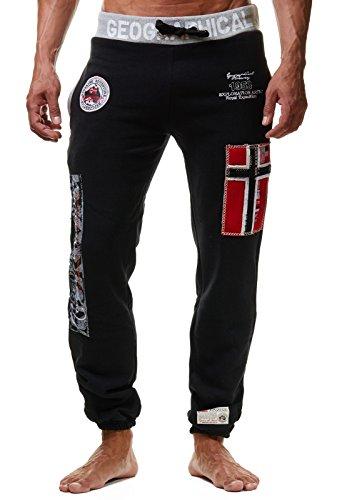 KL4 Geographical Norway Myer Herren Jogginghose Sport Hose Freizeit Black M