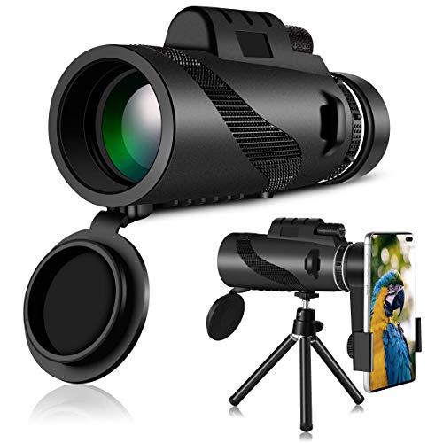 K/&F Concept Fernglas Teleskop wasserdicht 12x Vergr/ö/ßerung Handy Monokular Nachtsicht 12x50 mit Telefonklammer