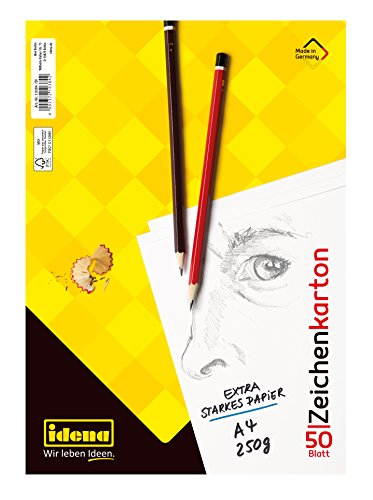 Folia Skizzenblock 50 Blatt geleimt weiß säurefrei A3 120g Zeichnen