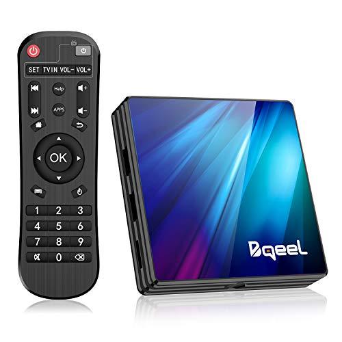 Bqeel Android TV Box Älykäs tv-laatikko R1 PLUS / 4G + 64G / Android 9.0 TV-laatikko RK3318-neliytimellä 64-bittisellä Cortex-A53 / tukee WiFi 2.4G / 5.0G / BT 4.0 / ...