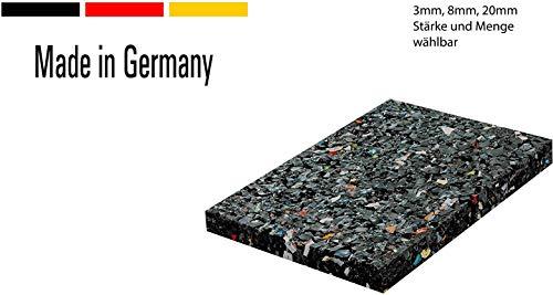 60x Terrassenpads [3mm] 60x90 in unterschiedlichen Stärken aus Gummigranulat -...