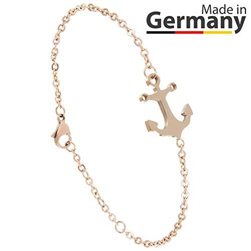 ANKERPUNKT Anker Armband Rosegold Frauen Armband Größenverstellbar Made in...