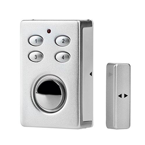 KOBERT GOODS SP65 in silber sehr laute 130db Sirene , drahtloser Tür Fenster Garage oder Vitrinen Alarm, Einsatz als Alarmanlage, Einbruchsschutz,...