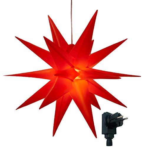 3D Leuchtstern inkl. warm-weißer LED Beleuchtung   für Innen und Außen...