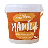ManiLife Peanut Butter - Peanut Butter - All natural, one growing area, without added sugar, without palm oil - Deep Roast Smooth - (1 x 1kg)
