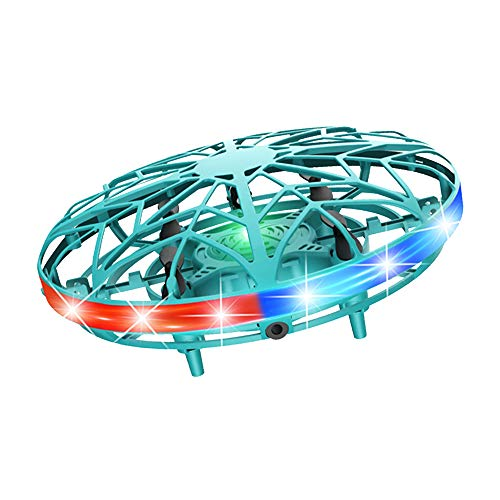 UFO Mini Drohne, Wiederaufladbare Infrarot Induktions Drohne 360 ° Drehung...