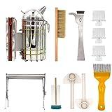 M.Z.A 8-in-1 Imker-Werkzeug-Set, Bienenräucher, Bürste,...