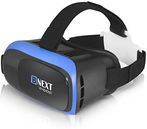 VR-Brillen, Virtual-Reality-Brille Kompatibel mit iPhone & Android [3D Brille] - Spielen Sie die besten Handyspiele, 3D & 360 Filme ab mit weicher...
