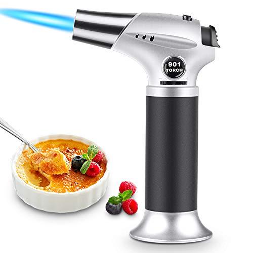 Magicfun Küchenbrenne Flambierbrenner, Nachfüllbar Butan Gasbrenner mit Sicherheitsschloss für die Küche Home Creme Brulee Gebäck Desserts...