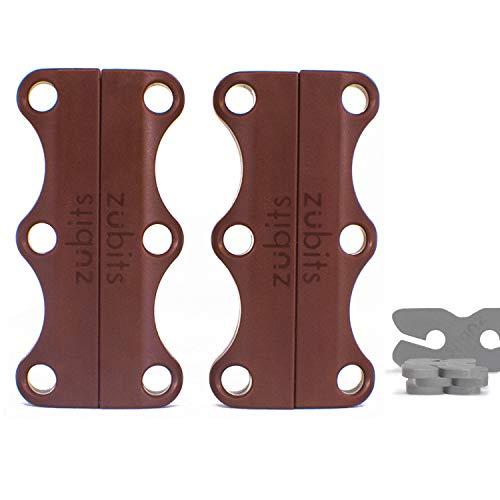 zubits® - Magnetische Schuhbinder/Magnetverschlüsse für Schuhe - Größe #3 Sport/über 84kg in braun