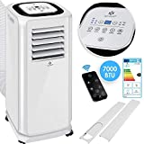 KESSER® - Air conditioning Mobile air conditioner 4in1 cooling, dehumidifier, ventilation, fan - 7000 BTU / h (2.000 watt) - Air conditioning with mounting material, ...