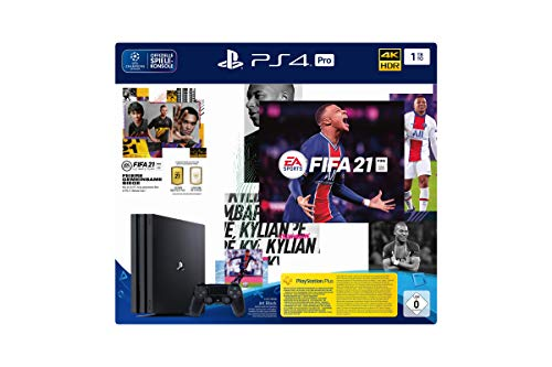 PlayStation 4 Pro Konsole - 1 TB JET Black mit EA Sports FIFA 21 PS 4 (inkl....