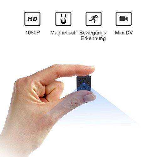 Mini Kamera,NIYPS Full HD 1080P Tragbare Kleine Überwachungskamera, Mikro Nanny Cam mit Bewegungserkennung und Infrarot Nachtsicht, Compact...