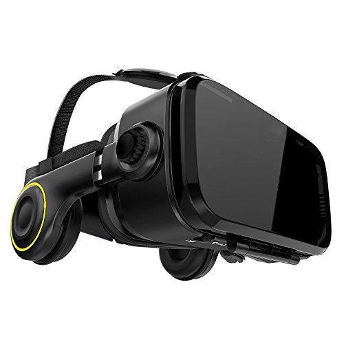 VR Brille VR-Shark X4 - VR-Box / VR-Headset für 4,7 - 6,1 Smartphones | Komp. zu Nexus, Samsung, Lumia, LG, Moto, HTC, Huawei, Sony inkl. Kopfhörer...