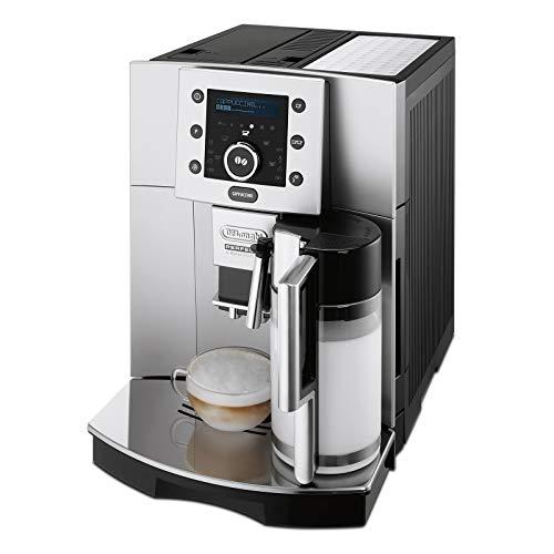De'Longhi Perfecta ESAM 5500.S Kaffeevollautomat (1,8 l, Digitaldisplay, Integriertes Milchsystem, Kegelmahlwerk, 13-stufiges Mahlwerk, Herausnehmbare...