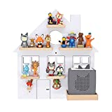 BOARTI children's shelf house small in white suitable for the Toniebox and approx. 25 Tonies - for playing and ...