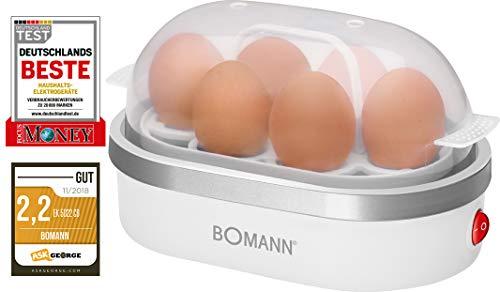 Bomann EK 5022 CB Eierkocher, Zubereitung von bis zu 6 Eiern, akkustisches...