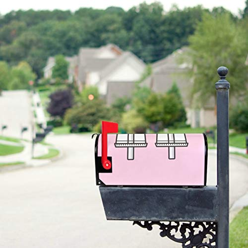 YXUAOQ Süße Boba Grüntee Trinken Standardgröße Original Magnetic Mail Anschreiben Briefkasten 21 x 18 Zoll Mail Box Covers Mailbox Wraps Covers...