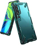 Ringke Fusion-X Compatible with Xiaomi Mi Note 10, Note 10 Pro, Mi CC9 Pro Case, Transparent Hard Back with Flexible Frame - Turquoise Green