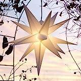 Mit LED Außenstern Stern Outdoor weiss - beleuchteter Stern...