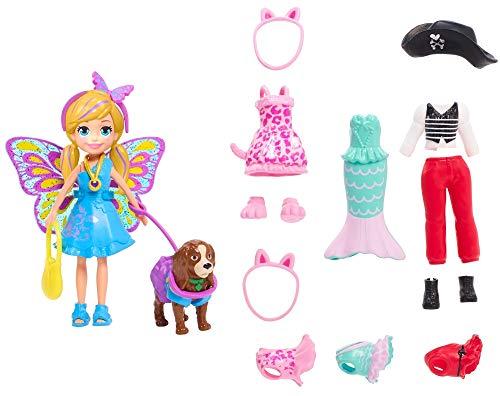 Polly Pocket GDM15 Kostümparty-Set Mini-Puppe mit Verschiedene Outfits