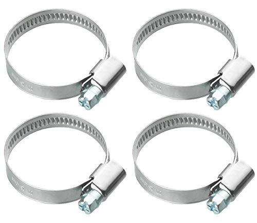 10 Hochwertige Rohrschellen /_ Einstellbare Schlauchschellen aus Edelstahl W4 /_ Schlauchklemmen mit Schneckenantrieb /_ Spannbereich 32mm-50mm /_ Bandbreite 12mm