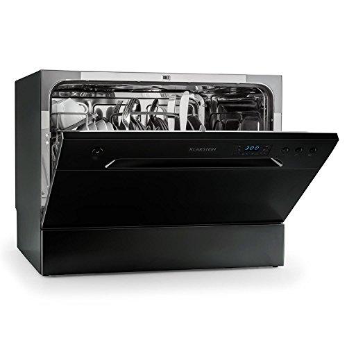Klarstein Amazonia 6 Nera Spülmaschine Tischgeschirrspüler (freistehend, A+, 174 kWh/Jahr, 55 cm breit, 49 dB leise, 6 Maßgedecke, 6 Programme,...