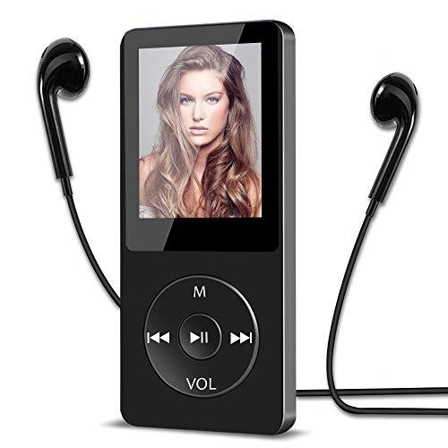 16GB MP3 Player, HiFi Musik-Player verlustfrei MP3 mit 1.8 Zoll Bildschirm, 30 Stunden Wiedergabezeit, Unterstützung FM Radio/Bild/E-Book/Aufnahmen,...