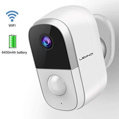 1080P Akku Überwachungskamera Aussen/Innen WLAN IP Kamera, Lemnoi...