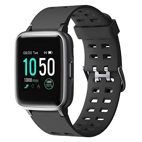 YAMAY Smartwatch,Fitness Armband Uhr Voller Touch Screen Fitness Uhr IP68 Wasserdicht Fitness Tracker Sportuhr mit Schrittzähler Pulsuhren Stoppuhr...