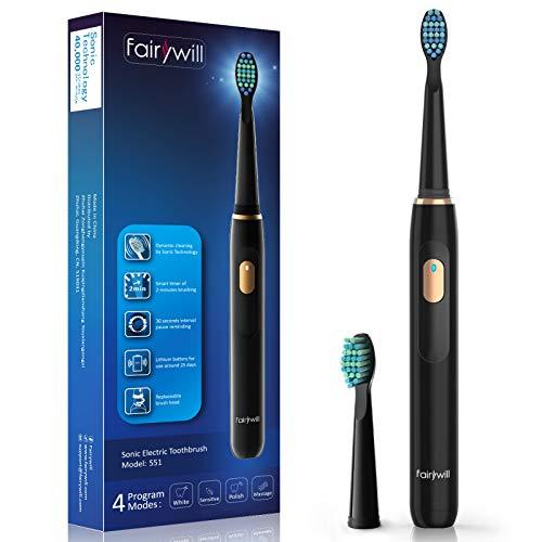 Fairywill Elektrische Zahnbürste Putzen Sie Ihre Zähne Wie Beim Zahnarzt...