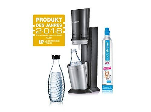 SodaStream Crystal 2.0 Wassersprudler mit CO2-Zylinder und 2x Glaskaraffen,...