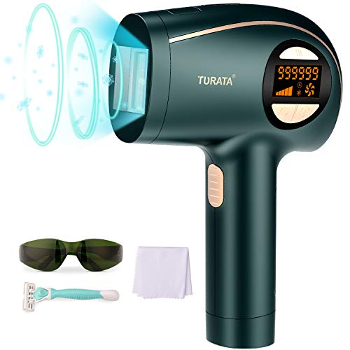 TURATA IPL Haarentfernungsgerät mit 999,999 Lichtimpulse Kühlpflegefunktion...